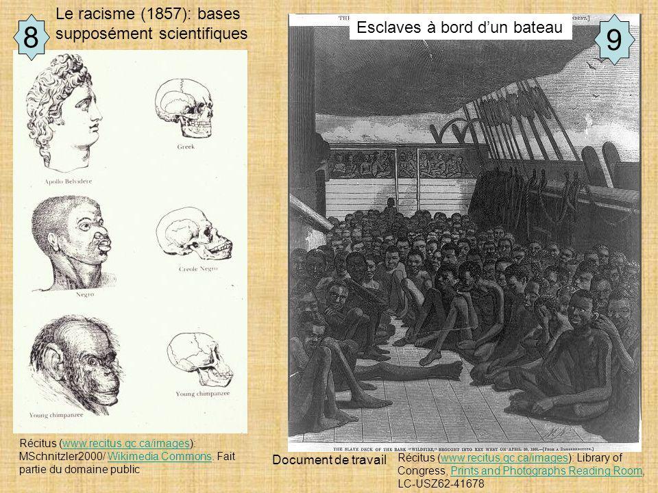 8 9 Le racisme (1857): bases supposément scientifiques