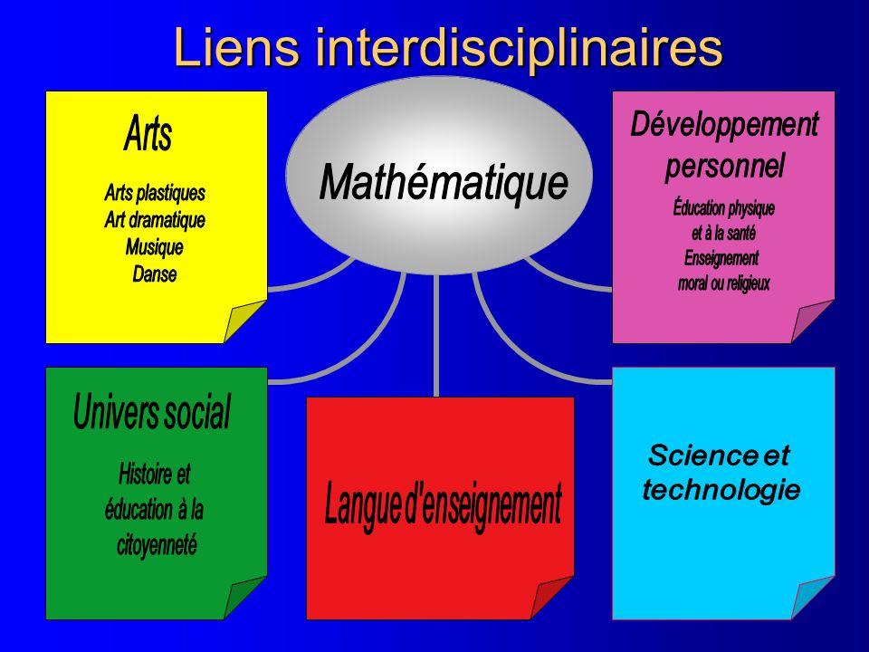 Liens interdisciplinaires