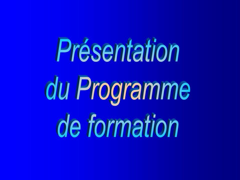 Document 1.3.1 Présentation du Programme de formation