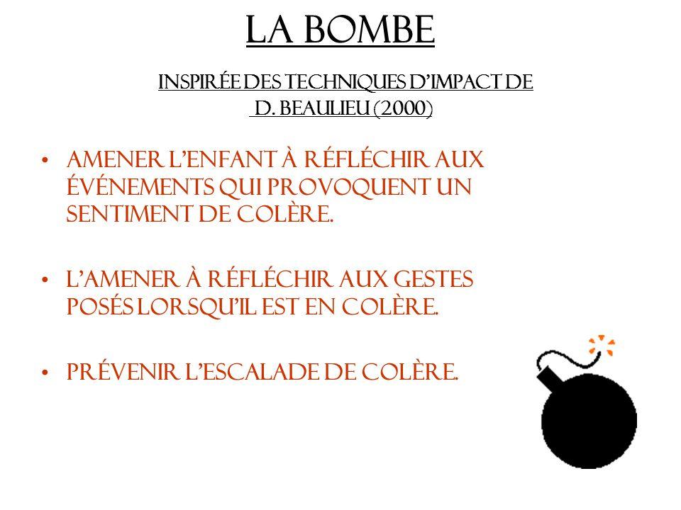 La bombe Inspirée des techniques d'impact de D. Beaulieu (2000)