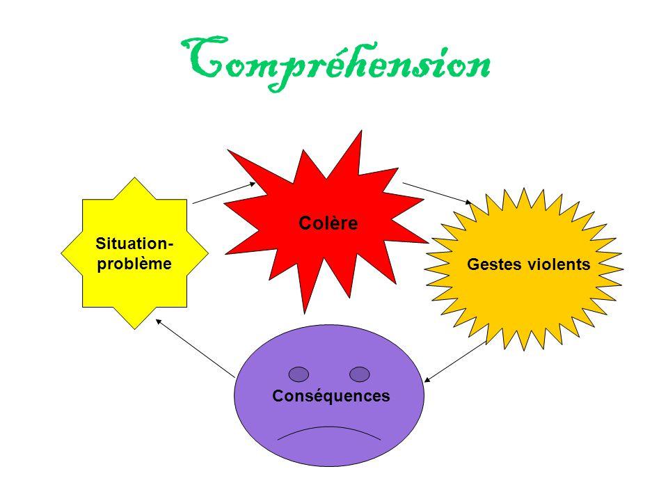 Compréhension Situation- problème Colère Gestes violents Conséquences