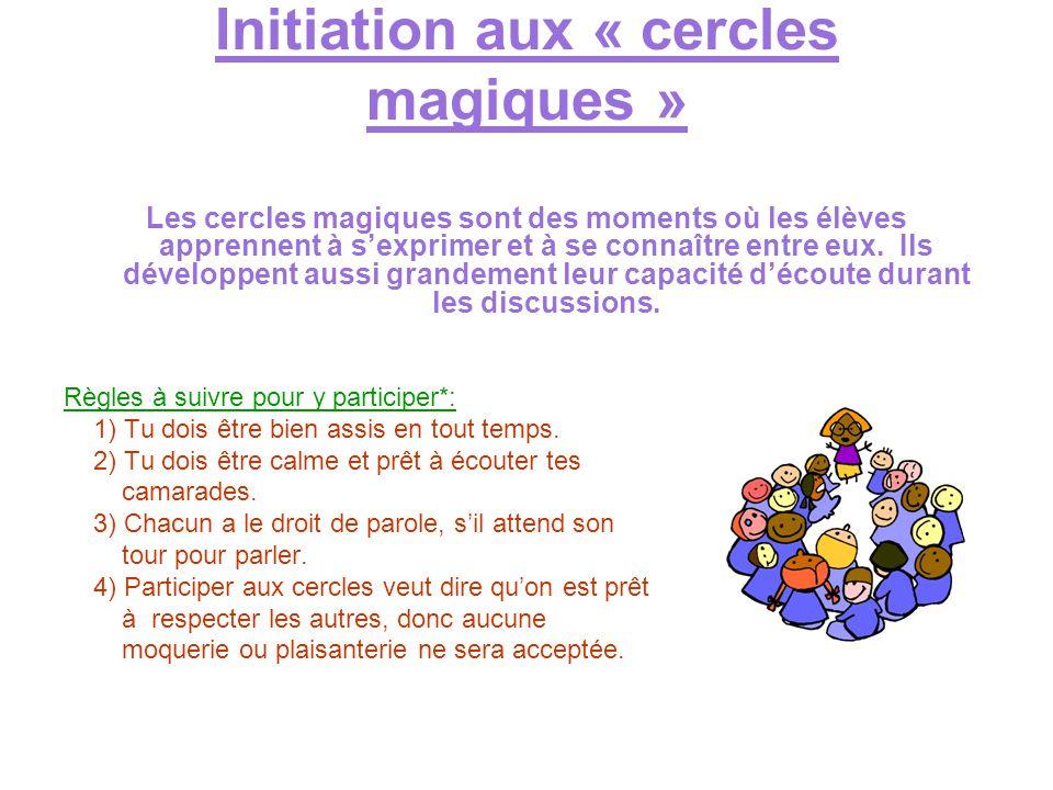 Initiation aux « cercles magiques »