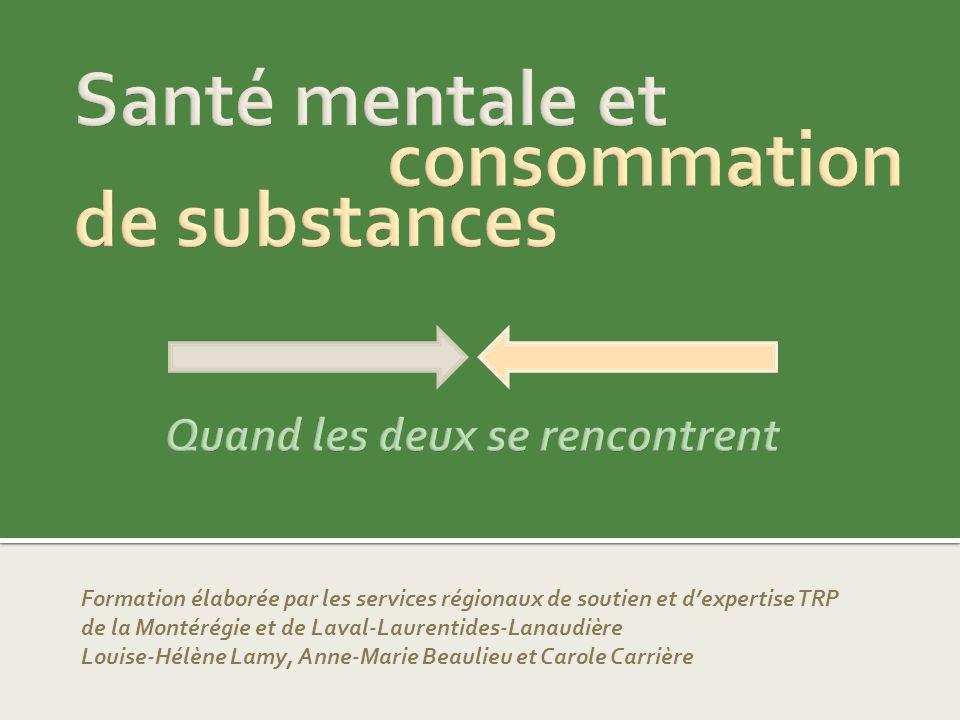 Santé mentale et consommation de substances