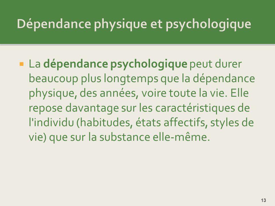 Dépendance physique et psychologique