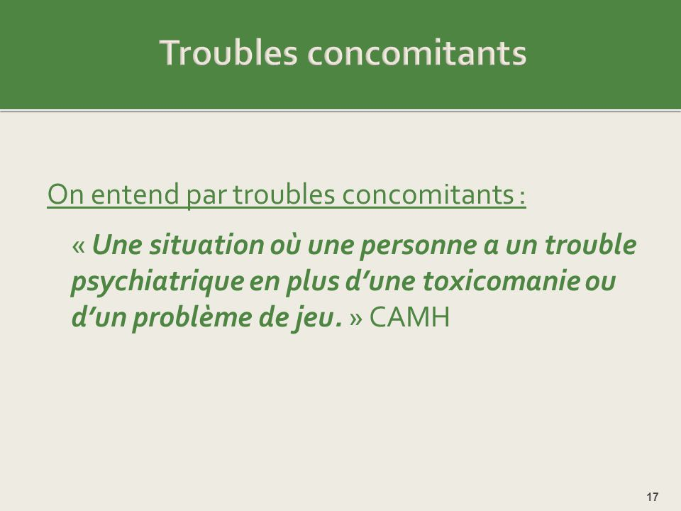Troubles concomitants