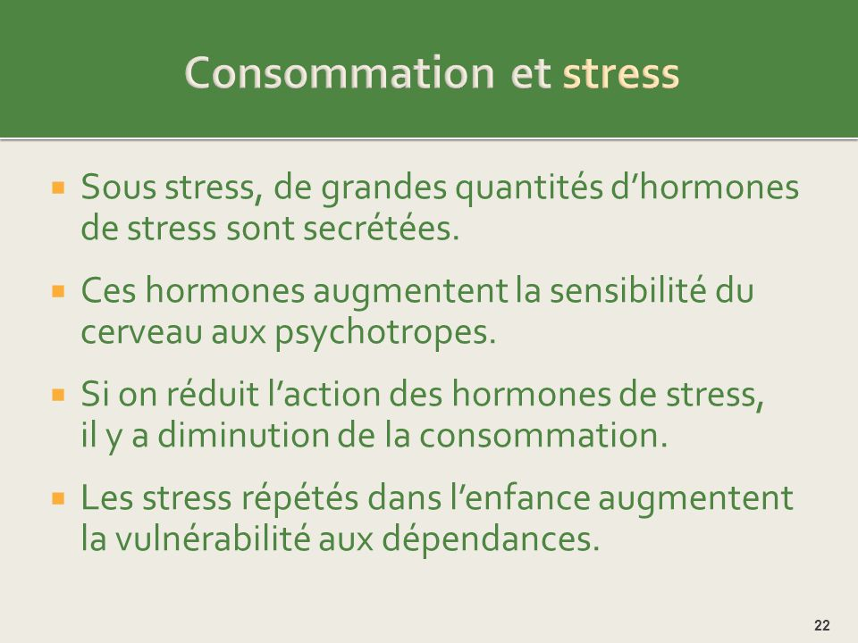 Consommation et stress