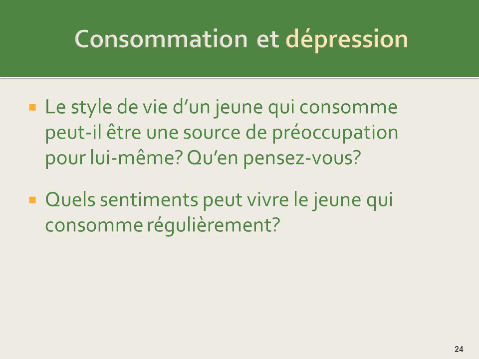 Consommation et dépression
