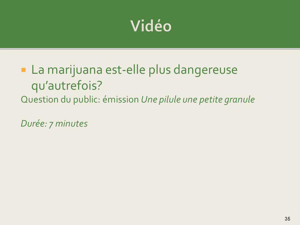Vidéo La marijuana est-elle plus dangereuse qu'autrefois