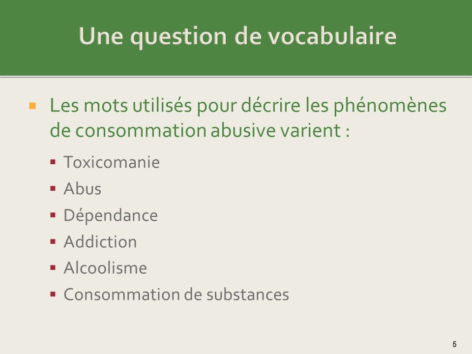 Une question de vocabulaire