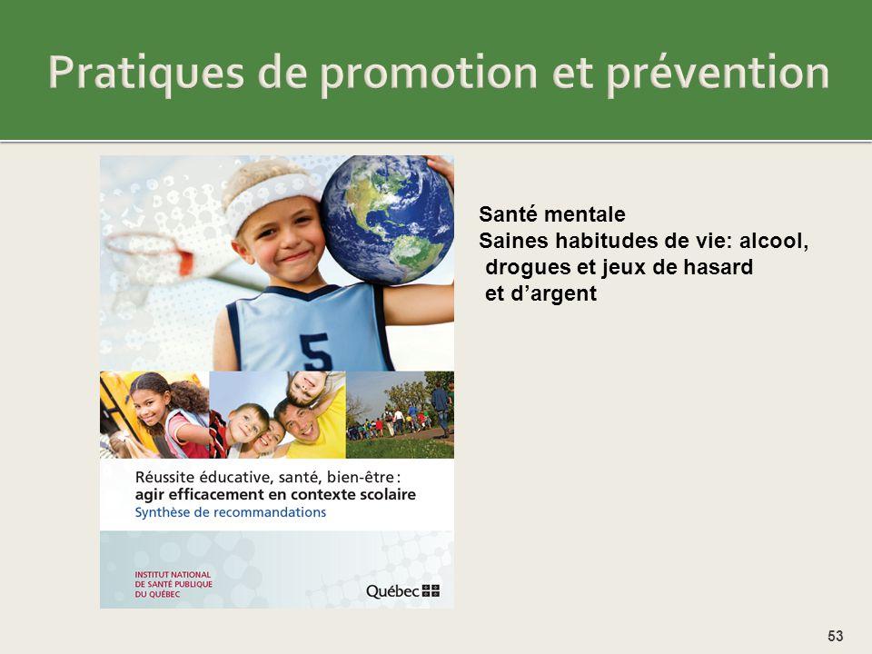 Pratiques de promotion et prévention