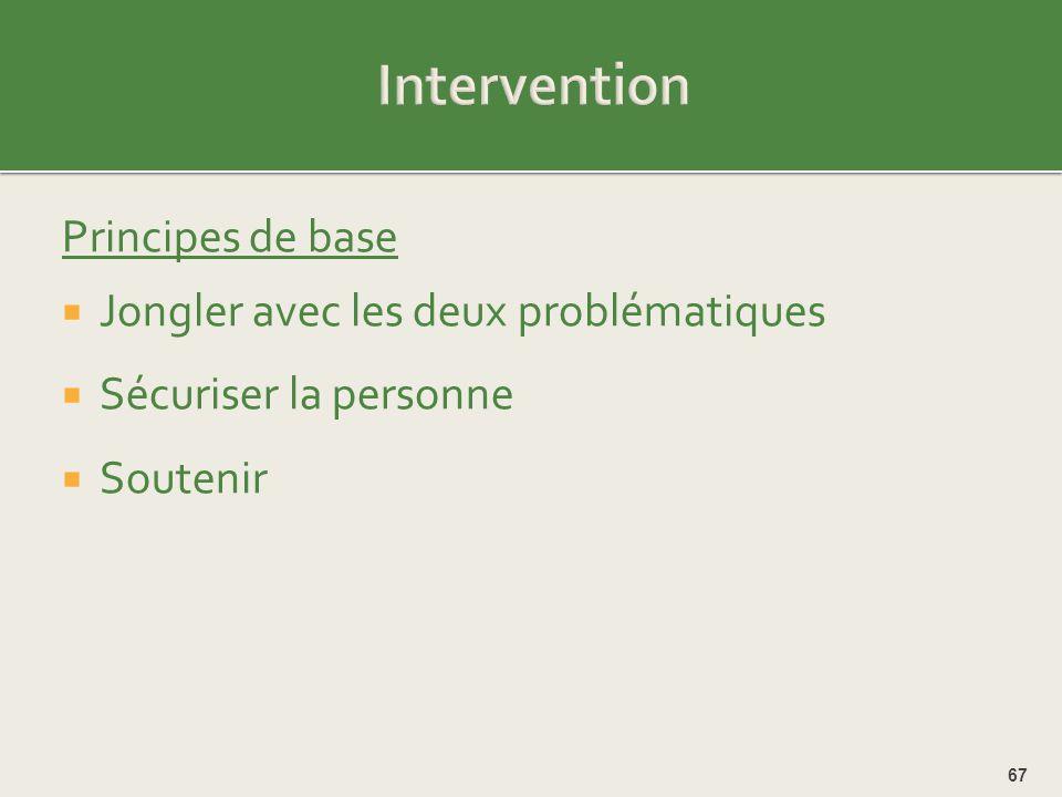 Intervention Principes de base Jongler avec les deux problématiques