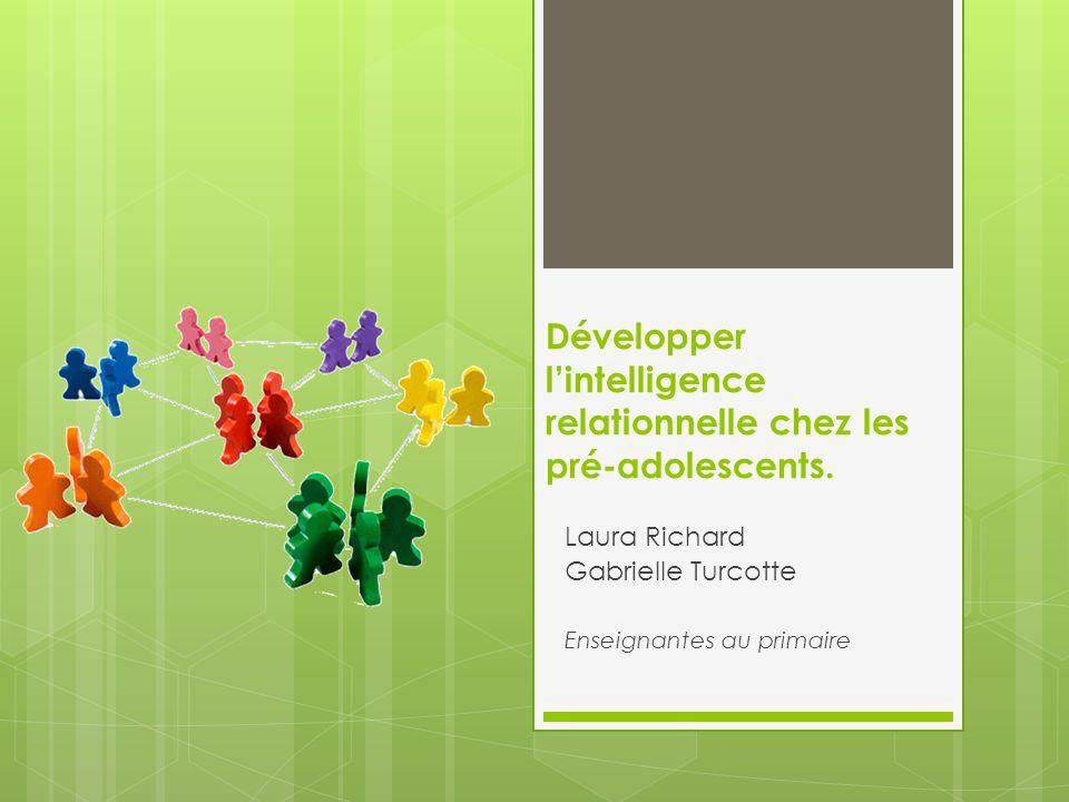 Développer l'intelligence relationnelle chez les pré-adolescents.