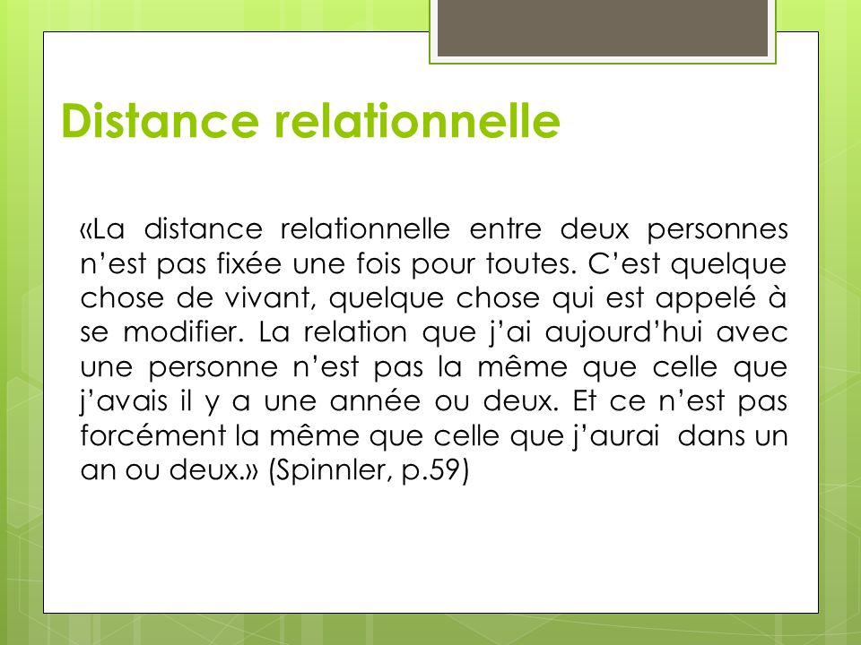 Distance relationnelle