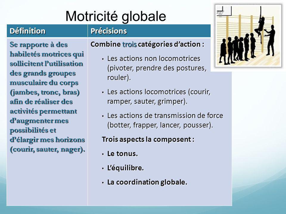Motricité globale Définition Précisions