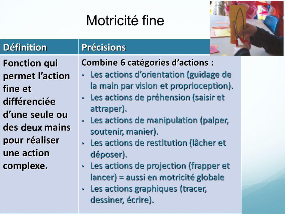 Motricité fine Définition Précisions