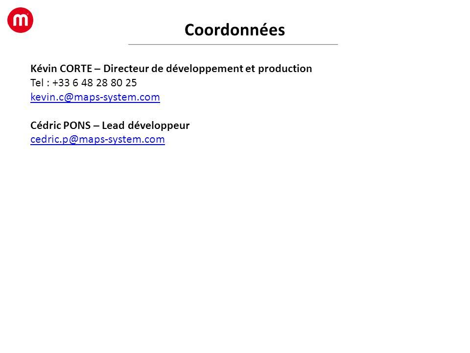 Coordonnées Kévin CORTE – Directeur de développement et production