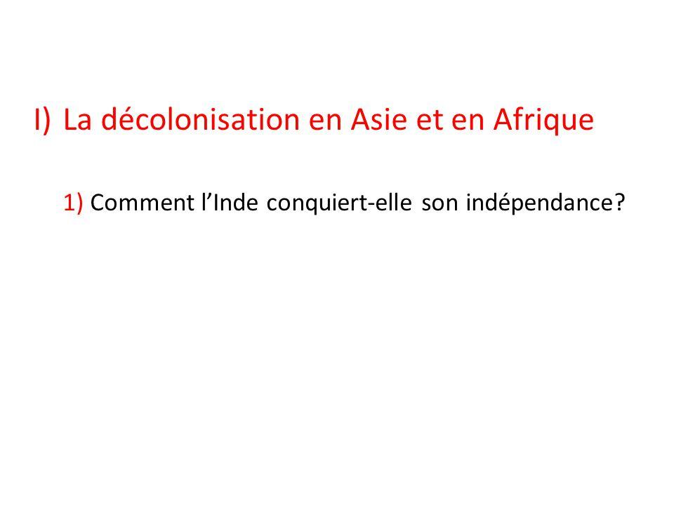 La décolonisation en Asie et en Afrique
