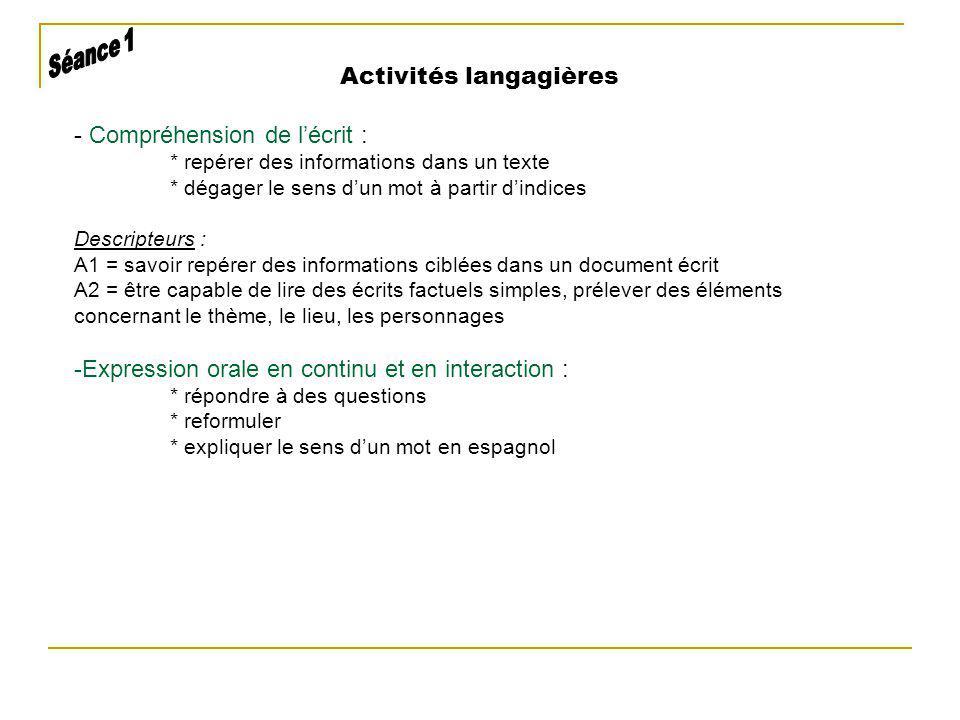 Activités langagières