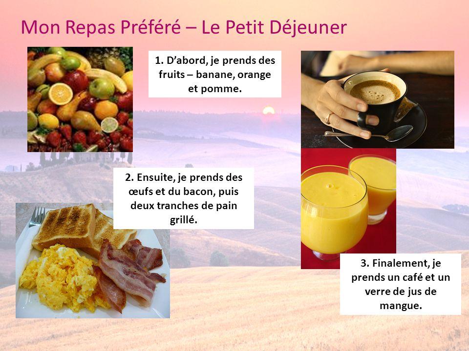 Mon Repas Préféré – Le Petit Déjeuner