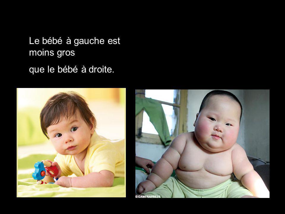 Le bébé à gauche est moins gros
