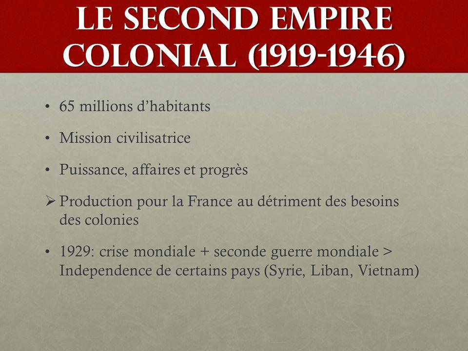 LE SECOND EMPIRE COLONIAL (1919-1946)