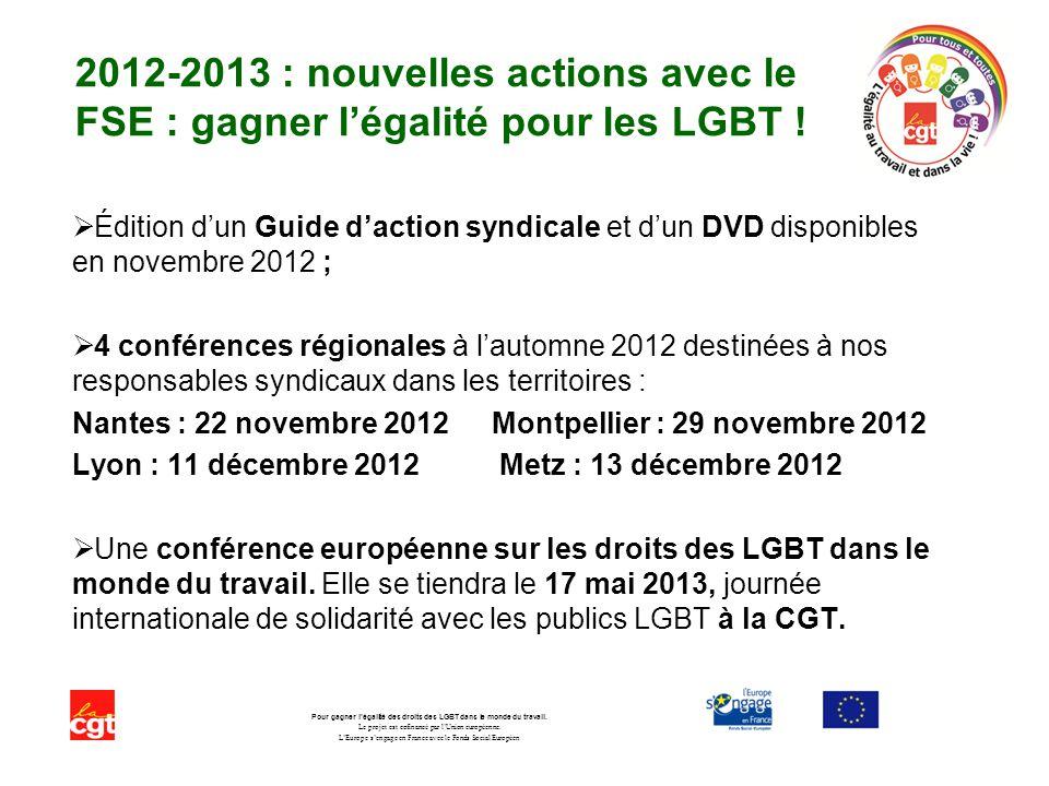 Pour gagner l'égalité des droits des LGBT dans le monde du travail.
