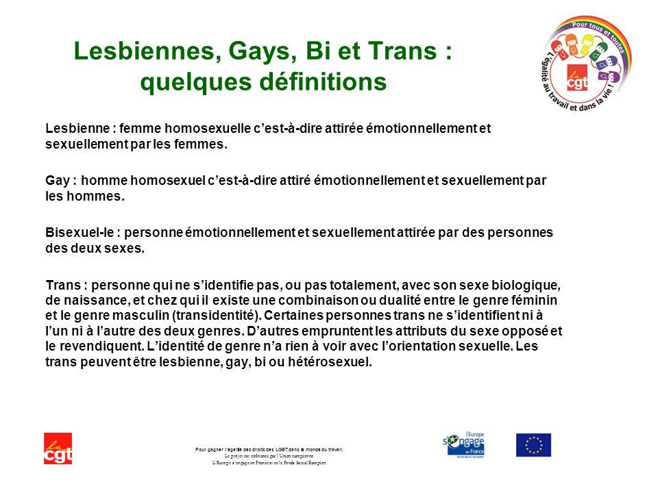 Lesbiennes, Gays, Bi et Trans : quelques définitions