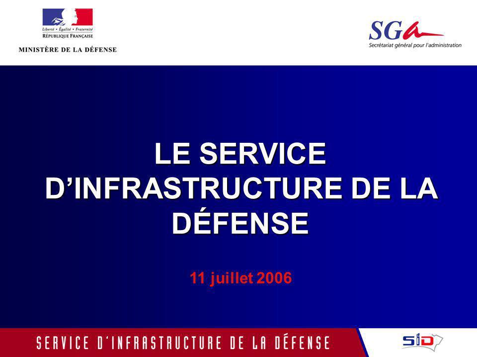 LE SERVICE D'INFRASTRUCTURE DE LA DÉFENSE