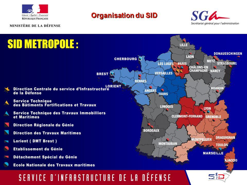 Organisation du SID SID METROPOLE : Septembre 2005