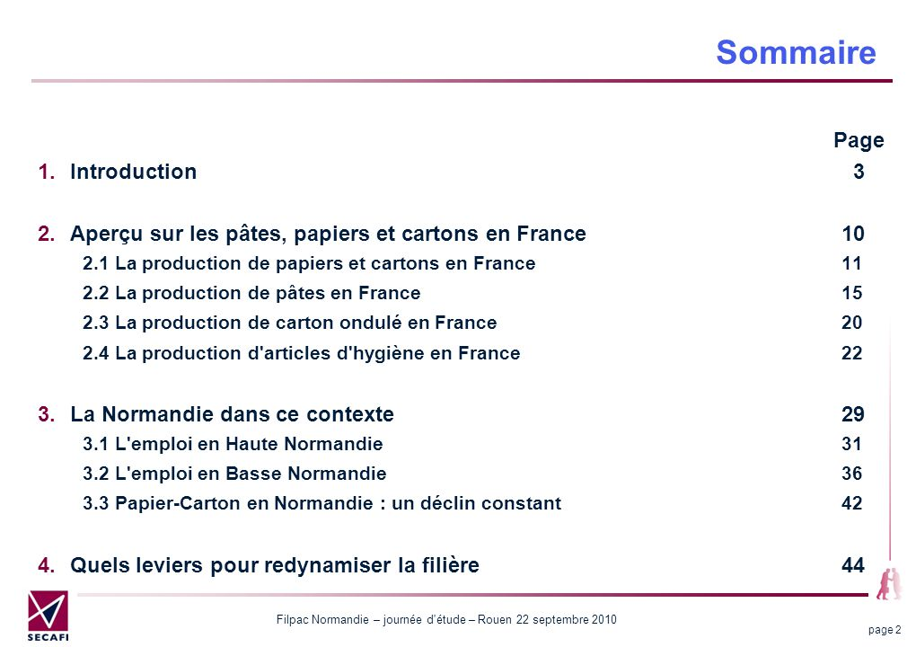 Sommaire Page Introduction 3