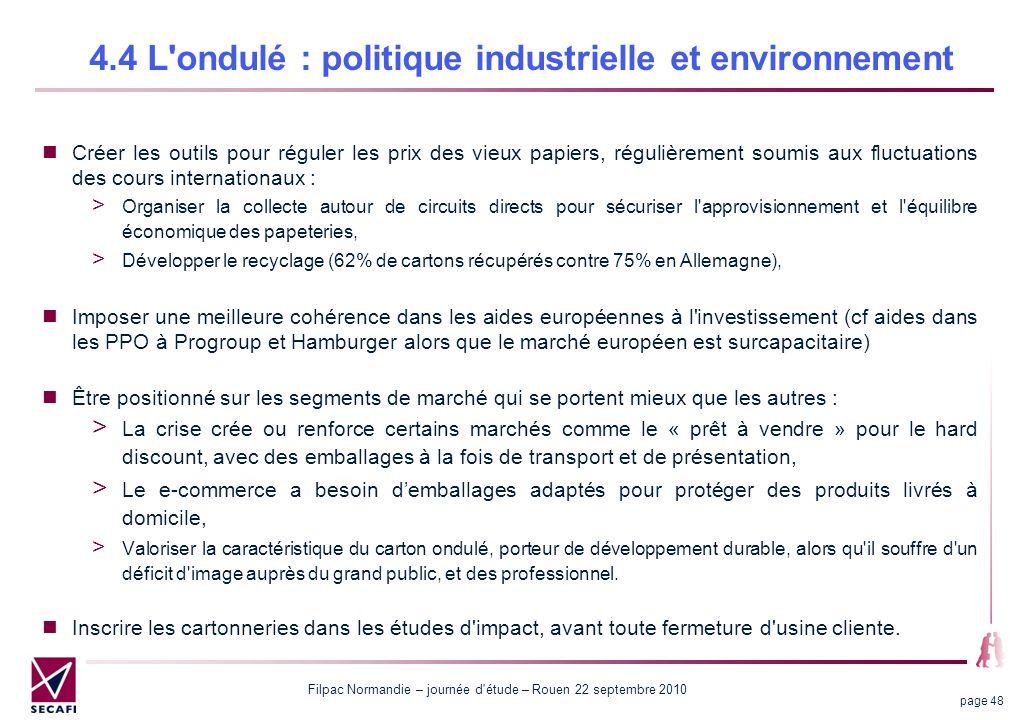 4.4 L ondulé : politique industrielle et environnement