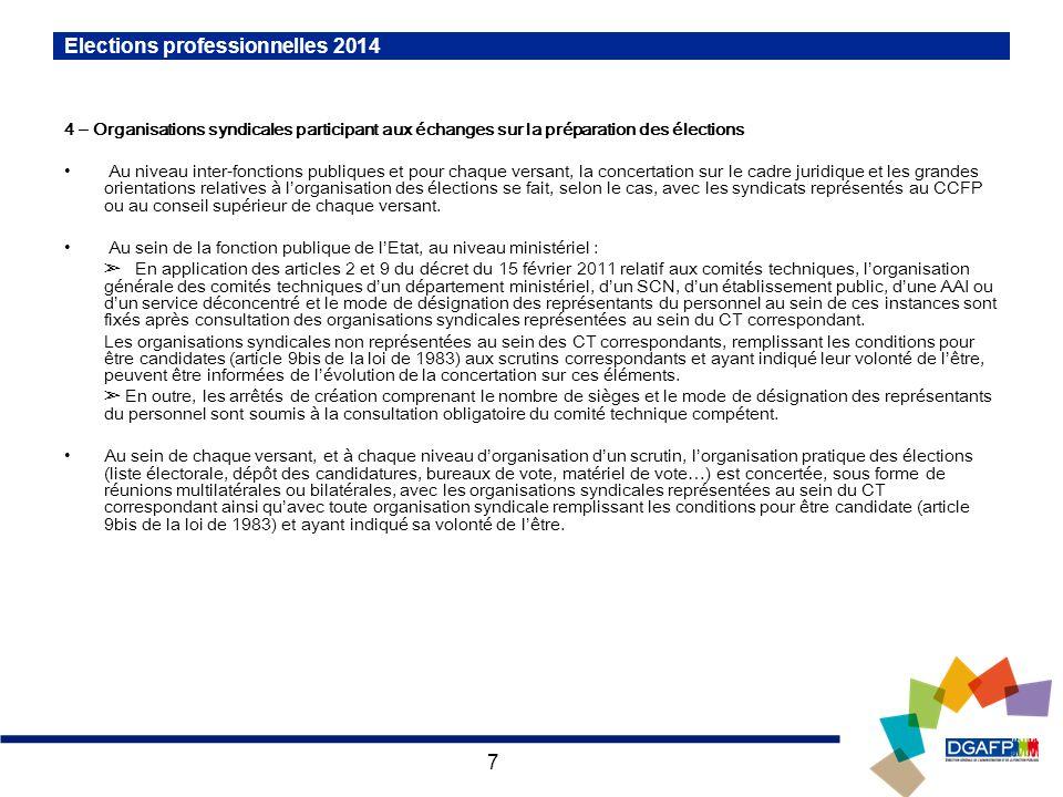 Elections professionnelles 2014 r union avec les organisations syndicales 13 novembre 2013 - Organisation bureau de vote ...