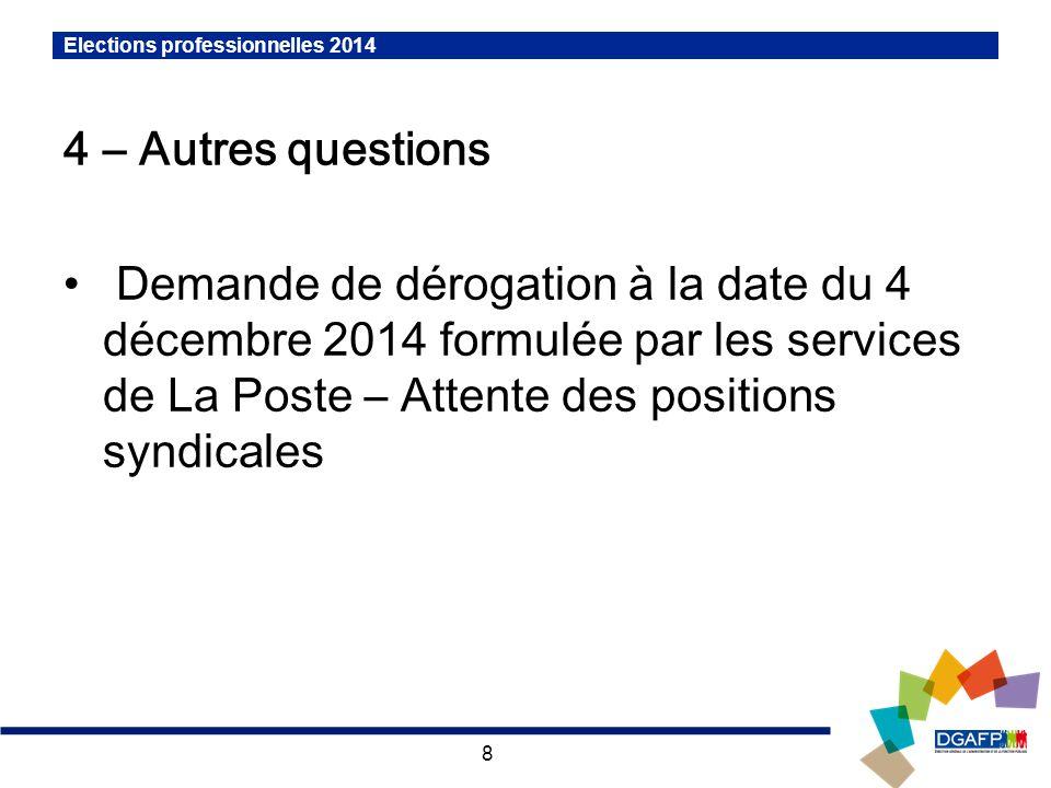 Elections professionnelles 2014