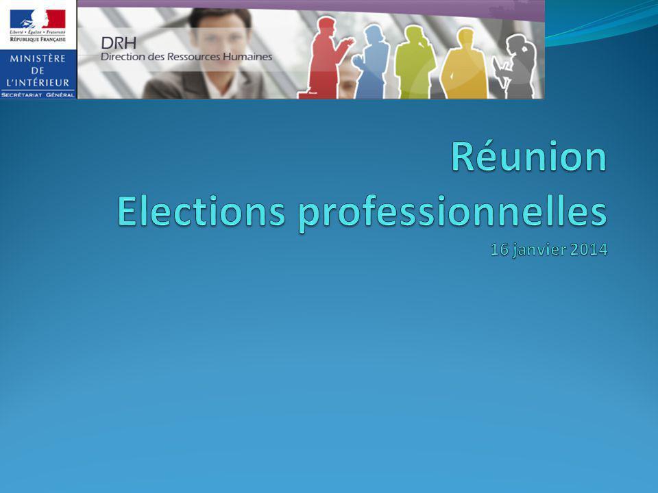 Réunion Elections professionnelles 16 janvier 2014