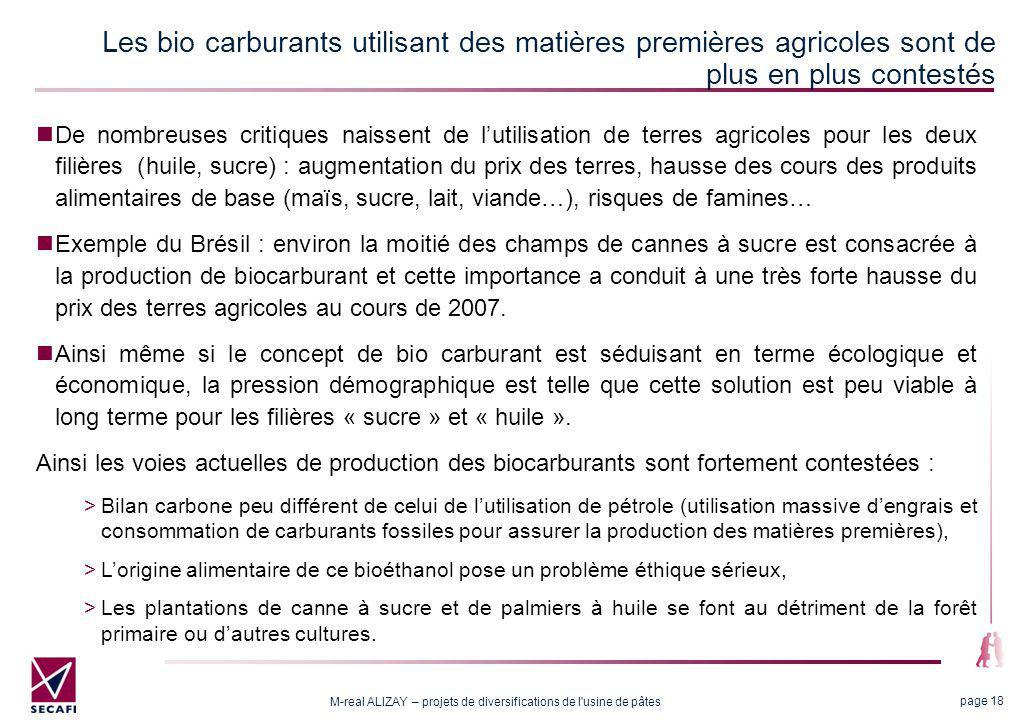 Les attentes vis-à-vis des biocarburants de 2nde génération
