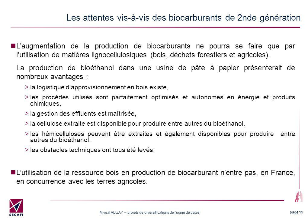 2.2 L'hydrolyse enzymatique comme solution technique pour la production de bio carburant à Alizay