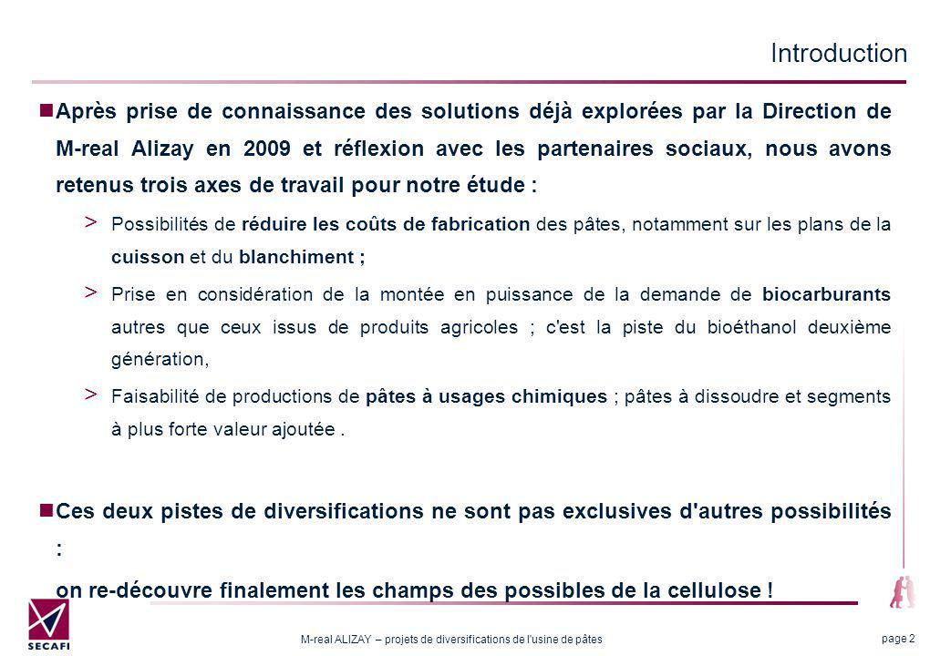 Avertissements Les premières propositions relatives à la réduction des coûts, relèvent de la marche normale d une usine.