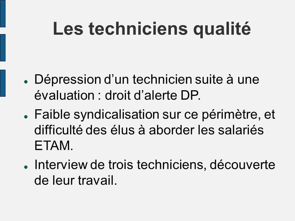 Les techniciens qualité