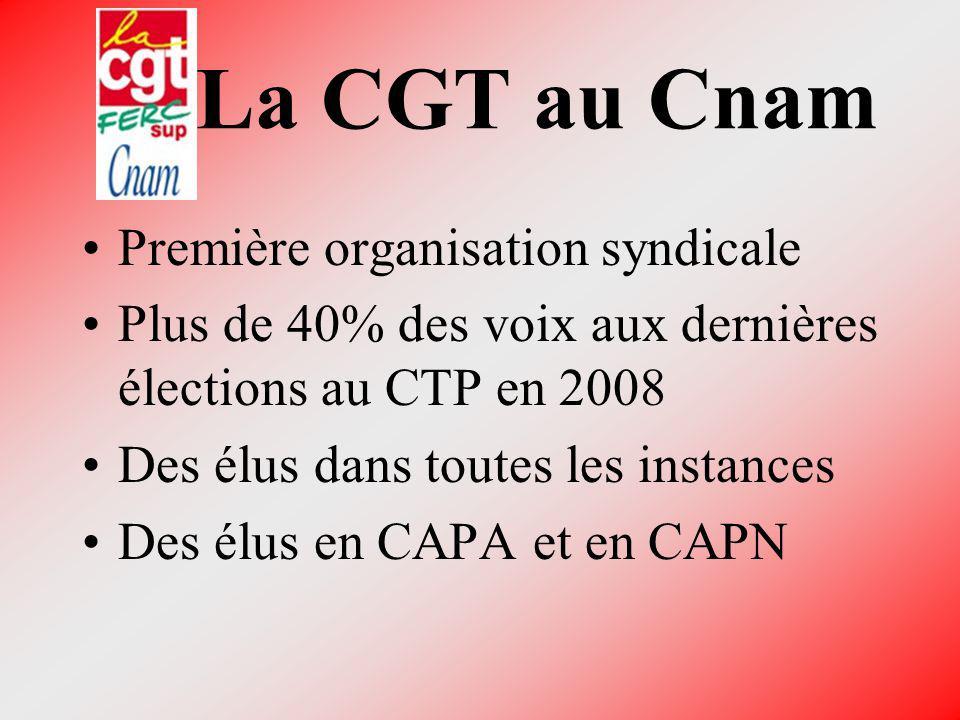 La CGT au Cnam Première organisation syndicale