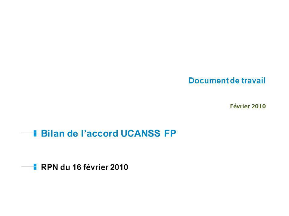Bilan de l'accord UCANSS FP