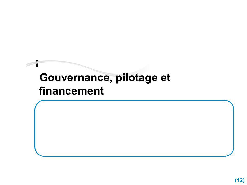 Gouvernance, pilotage et financement