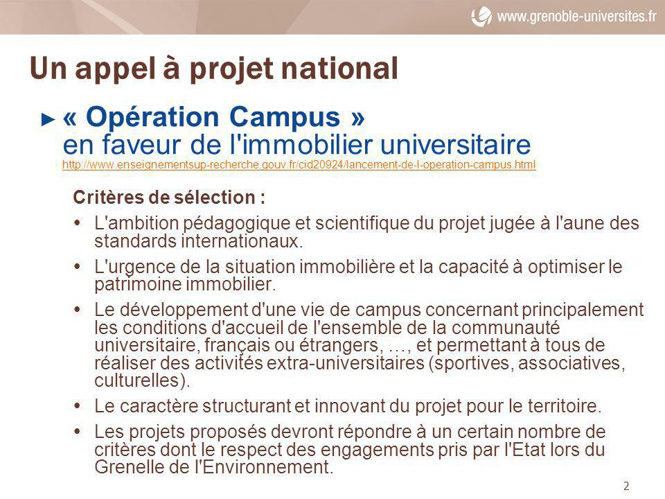 Un appel à projet national