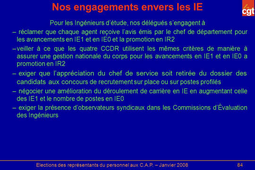 Nos engagements envers les IE