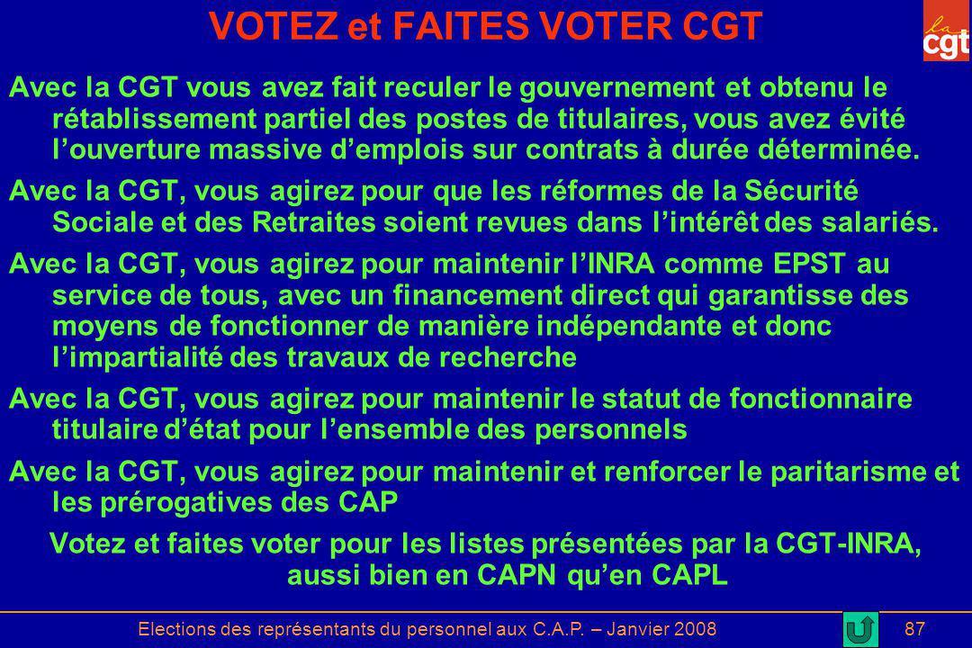 VOTEZ et FAITES VOTER CGT