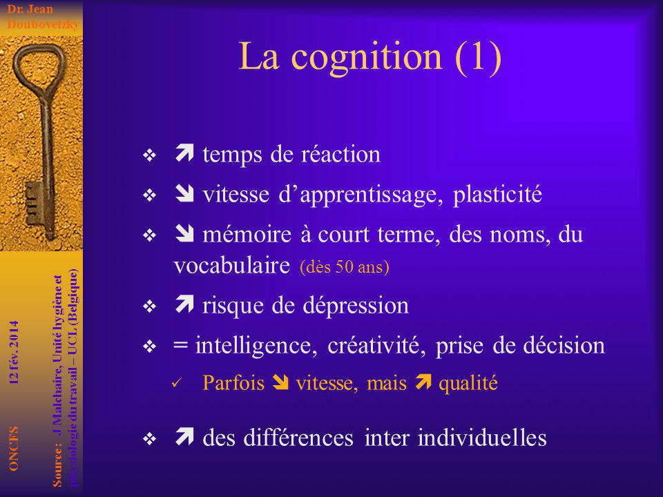 La cognition (1)  temps de réaction