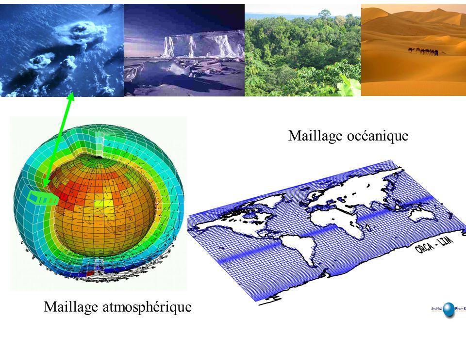Maillage océanique Maillage atmosphérique
