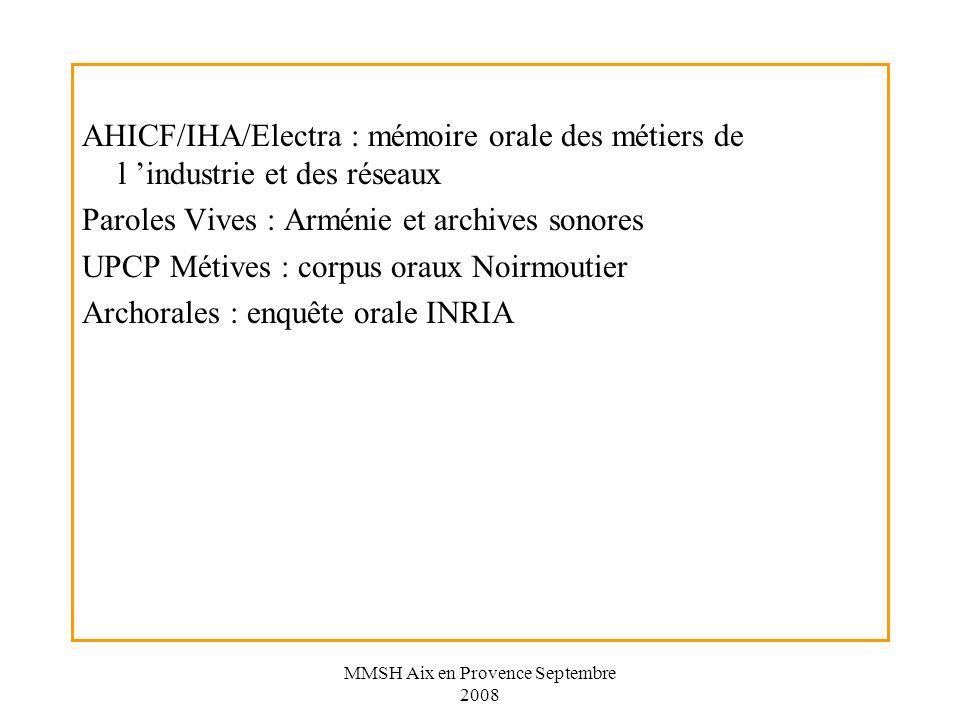 MMSH Aix en Provence Septembre 2008