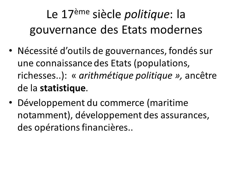 Le 17ème siècle politique: la gouvernance des Etats modernes