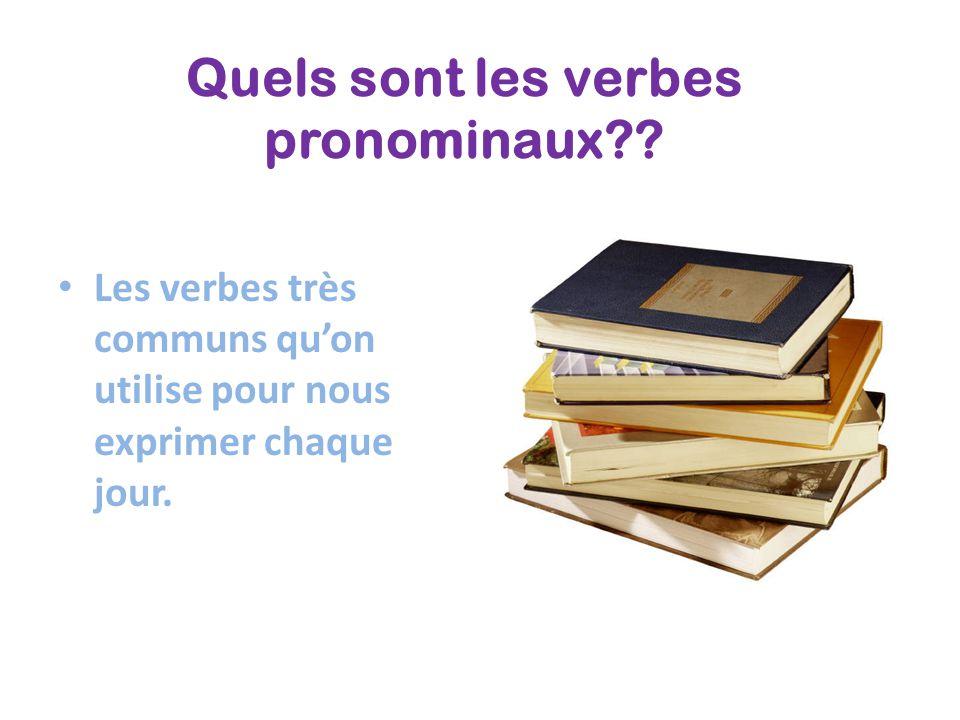 Quels sont les verbes pronominaux