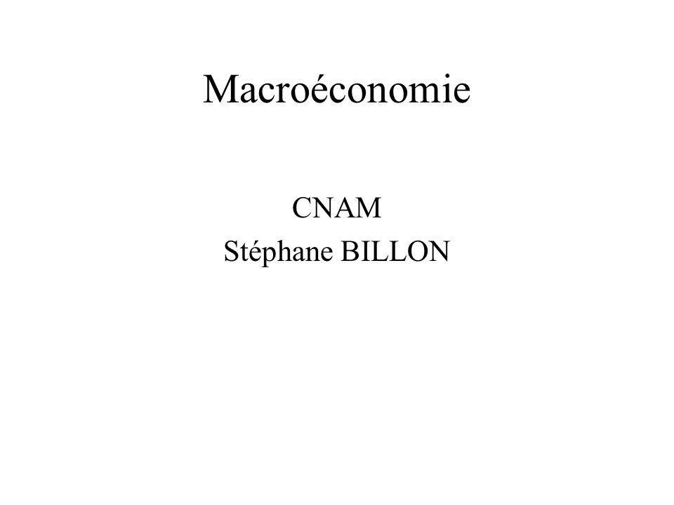 Macroéconomie CNAM Stéphane BILLON